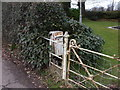 ST3394 : Disused post-box inside the garden of Roughton Lodge by John Lord