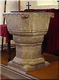 TL8783 : St Cuthbert, Thetford, Norfolk - Font by John Salmon