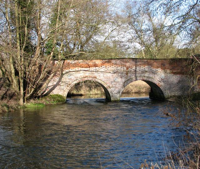 Bridge over the River Thet south of Bridgham
