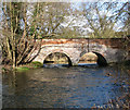 TL9585 : Bridge over the River Thet south of Bridgham by Evelyn Simak
