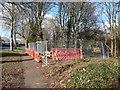 SZ0896 : Bournemouth : Wimborne Road Work Site by Lewis Clarke