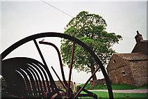 SD7659 : Retired farm machine at Whelpstone Lodge by Tom Howard
