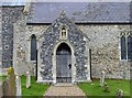 TL9996 : All Saints, Rockland All Saints, Norfolk - Porch by John Salmon