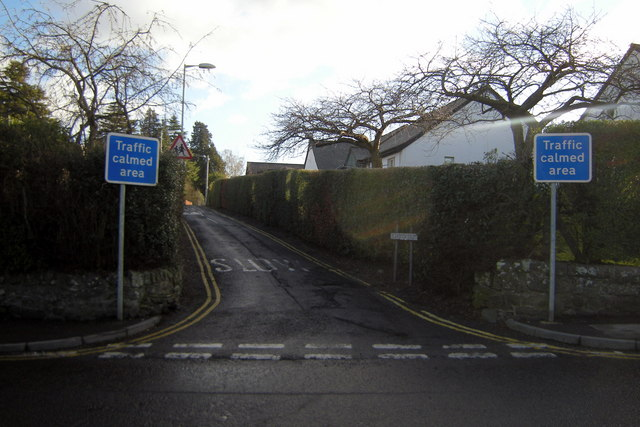 St Andrew Street, Brechin at its junction with Latch Road