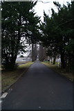 NS4967 : Road to Renfrew Golf Course by Thomas Nugent