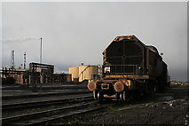 NZ5626 : Torpedo car by Alan Murray-Rust