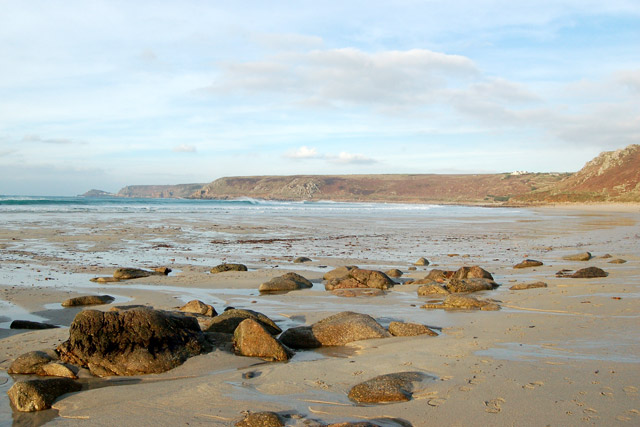 Looking northeast towards Cape Cornwall from Sennen Cove
