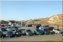 SW5842 : Looking like summer: Godrevy beach car park in February by Andy F