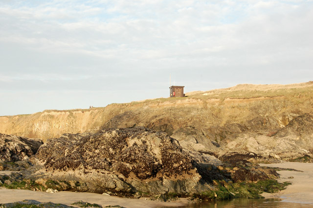 Lifeguard hut near Godrevy beach