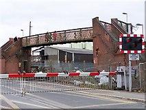 SU4212 : Level crossing and footbridge, Mount Pleasant Road by David Martin