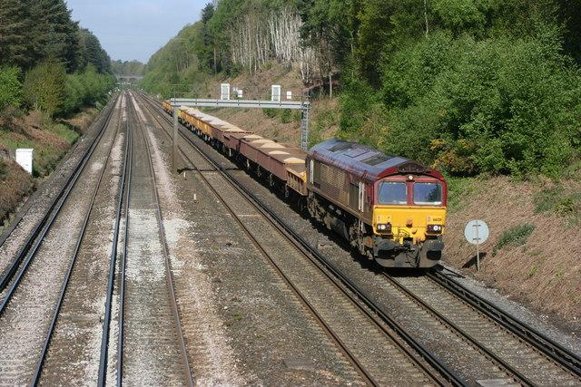 Railway through Gapemouth and Deepcut