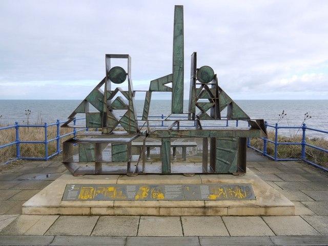 Vane Tempest Colliery interpretive sculpture, Seaham