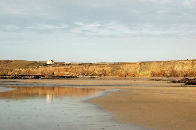 Looking northeast across Godrevy beach at low water