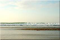 SW5742 : Red River and surf on Godrevy beach at low water by Andy F