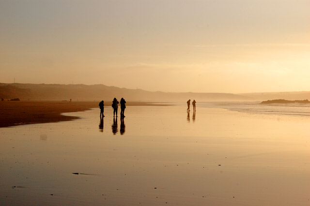 Evening glow over Gwithian beach