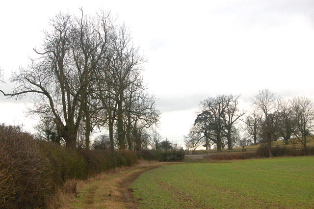 Footpath from Flecknoe approaching the A425 at Shuckburgh