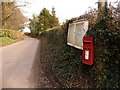 SY7690 : Woodsford: postbox № DT2 24 and noticeboard by Chris Downer