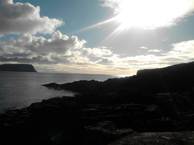 View from Neist point jetty