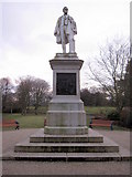SJ3787 : Sefton Park - the Rathbone statue by John S Turner