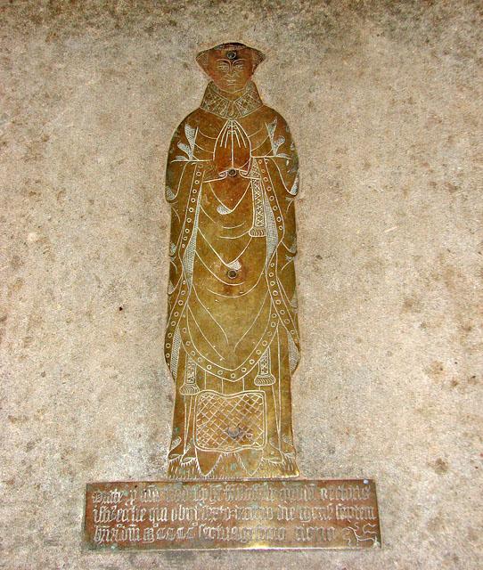 The church of All Saints - C15 figure brass