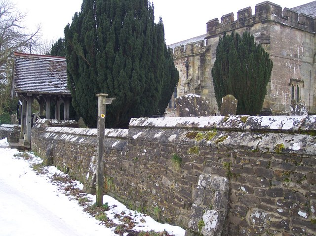 High Weald Landscape Trail beside St George's Church