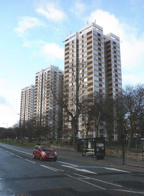 Towerblocks, on Westgate Road, Newcastle