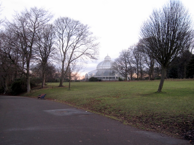 Sefton Park - the Palm House in the morning