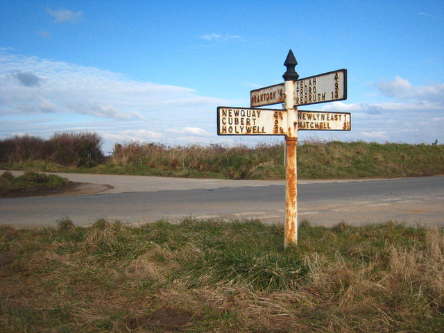 Finger post at the crossroads