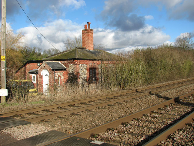 Ex-railway cottage beside the Norwich to Ely line