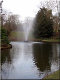 SJ3787 : Sefton Park - the fountain north of the bandstand by John S Turner