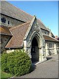 SZ5881 : St Saviour on the Cliff, Shanklin, Isle of Wight - west door by Christine Matthews