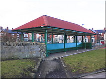 NZ3672 : Shelter, on the Promenade, Whitley Bay by Roger Cornfoot