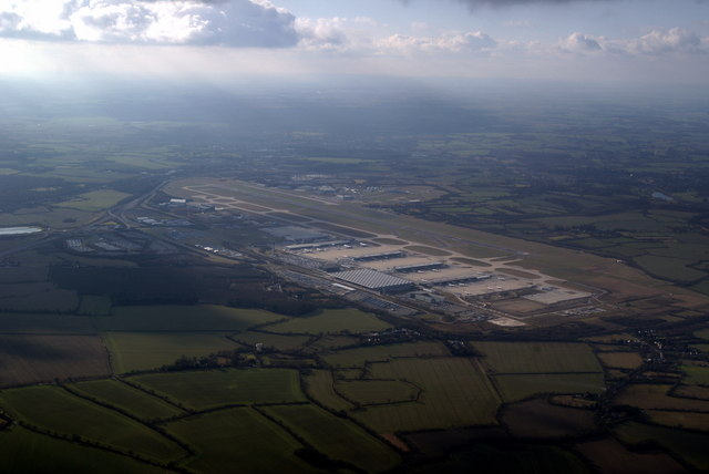 Stansted Airport from the air