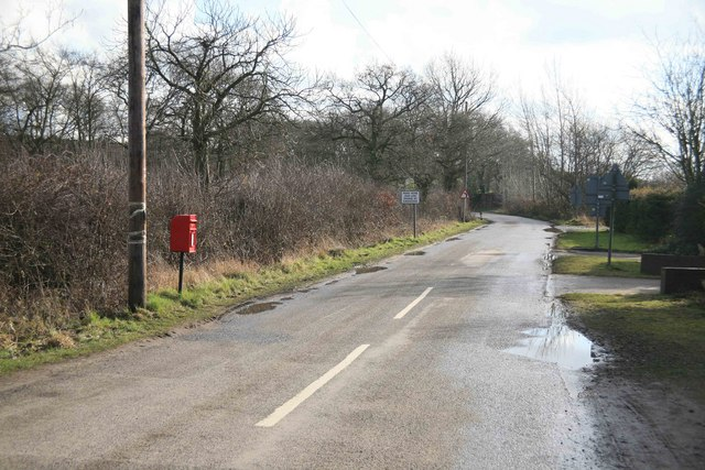 Rural postbox at  Eagle Barnsdale
