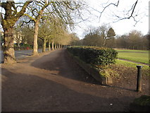 SJ3787 : Sefton Park - an entrance and the perimeter drive by John S Turner