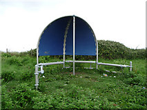 ST0743 : Teen shelter near former coastguard lookout, Watchet by Phil Champion