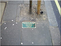TQ2978 : Plaque in pavement in Lupus Street Pimlico by PAUL FARMER
