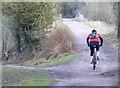 SU1383 : Fellow on a push-bike, Route 45, Swindon by Brian Robert Marshall