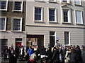 TQ2978 : Demonstration outside Crown Estate office in Bessborough Place Pimlico by PAUL FARMER