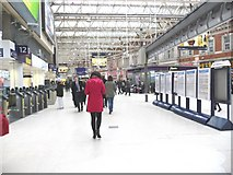 TQ3179 : Waterloo Station, before the afternoon rush hour by Christine Johnstone