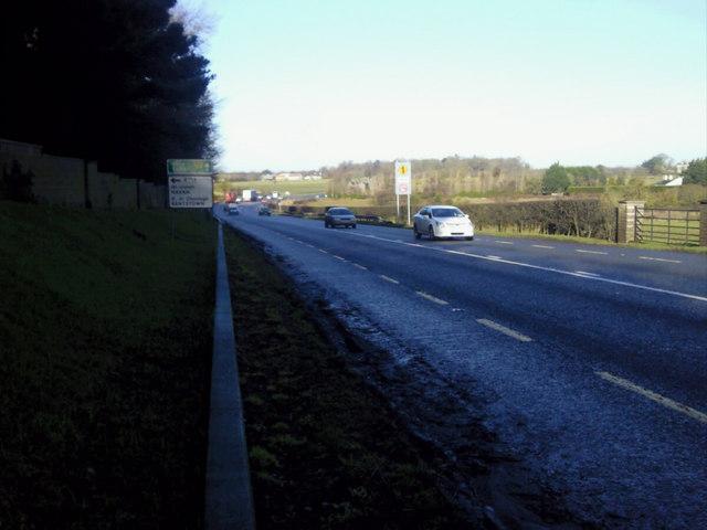 N2 Roadway approaching Balrath junction, Co Meath