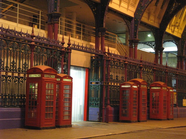 Telephone boxes in Smithfield Market, EC1