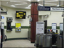 TQ2785 : Belsize Park tube station - ticket hall by Mike Quinn
