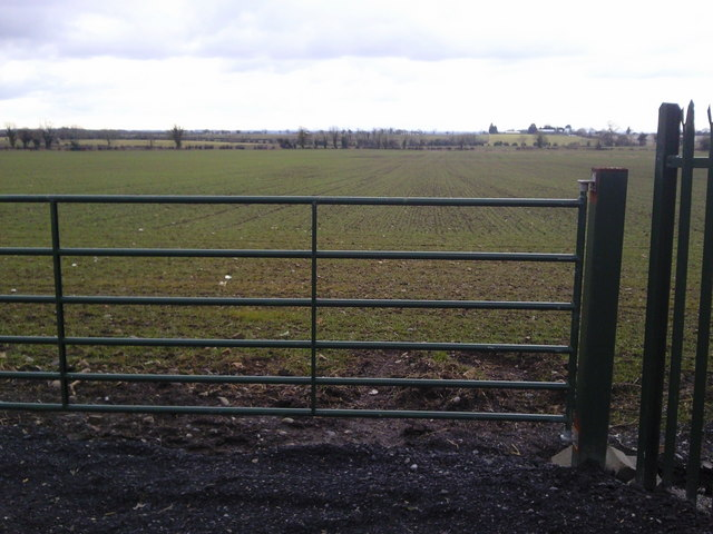 Gate and Agricultural Field , Co Dublin