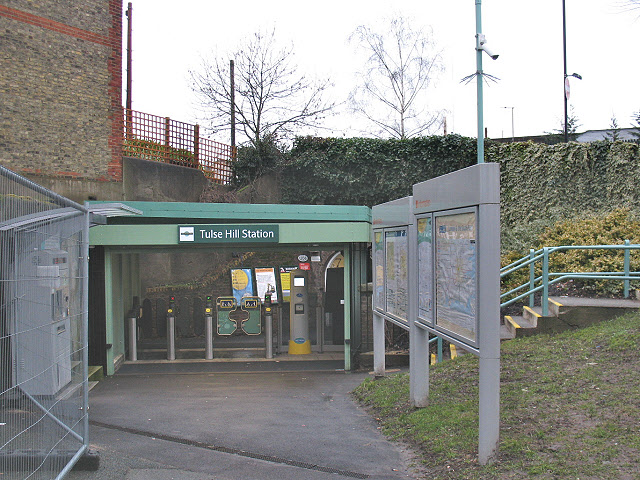 Back entrance to Tulse Hill railway station