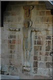 SU3521 : Carved figure, Romsey Abbey by Philip Halling