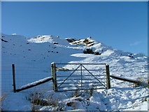 NG4162 : Gate at Balnaknock by Dave Fergusson