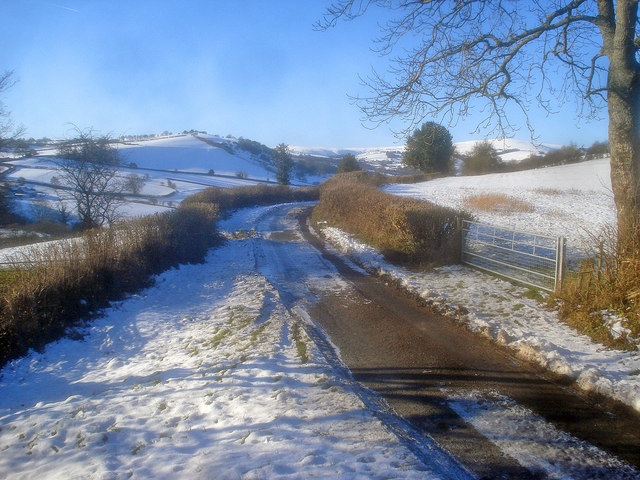 Bend in Upper Hergest Road