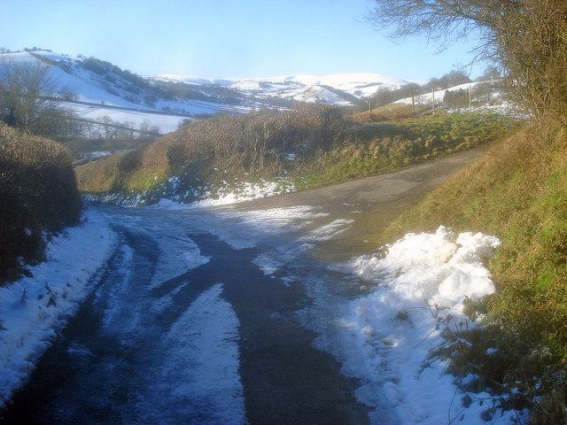 Lane junction at Upper Rabber