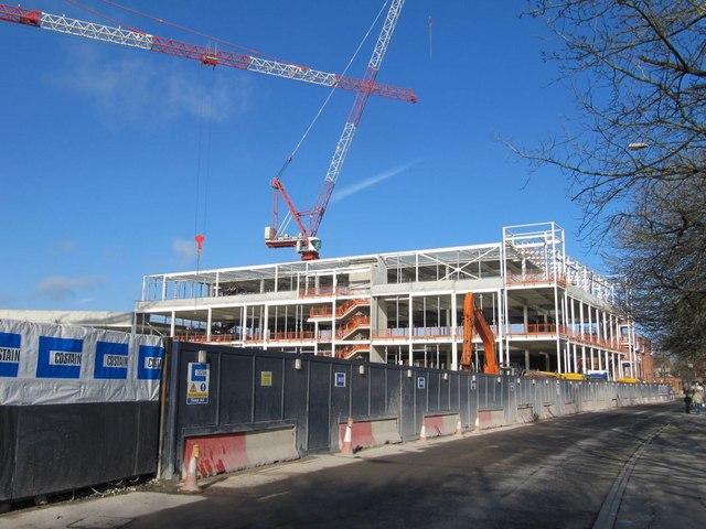 Framework on the building